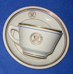 ... Mess) various pieces with gold Dept. of Navy. Eagle seal. Cups saucers plates bowls demitasse.  sc 1 st  Martifacts & U.S. Navy